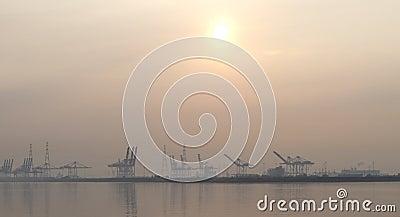 Harbour in antwerp