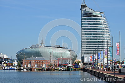 Harbour of bremerhaven in germany editorial stock photo for Design hotel bremerhaven