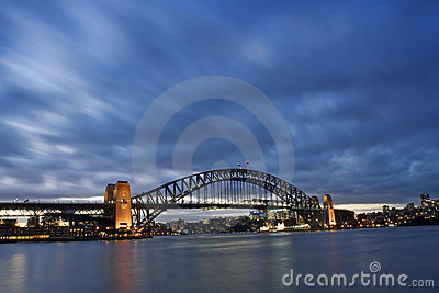 Harbour Bridge - Night Skyline