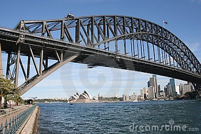 Harbour Bridge & Opera House Editorial Photography