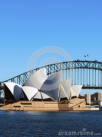 Harbour bridge and Opera House Editorial Stock Photo