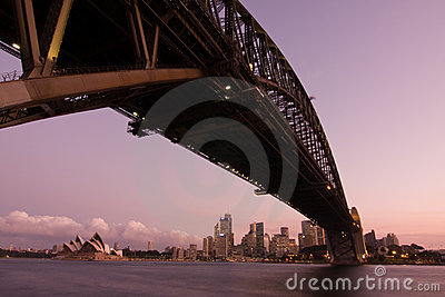 Harbour Bridge - Sydney City Skyline