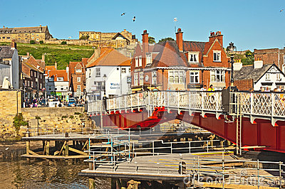Harbour bridge at Whitby Editorial Stock Photo