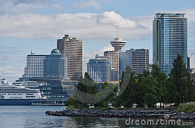 Harbour Center and Canada Place Vancouver Editorial Image