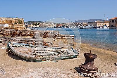 Harbour of Chania. Crete, Greece