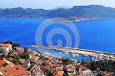 Harbour of city Kas (Kash) in Turkey