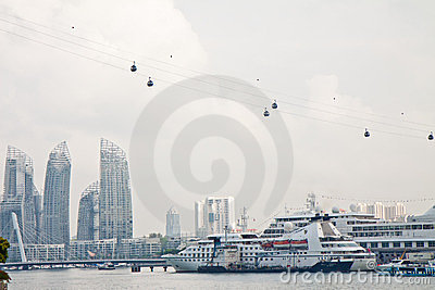 Harbour City View Editorial Stock Image
