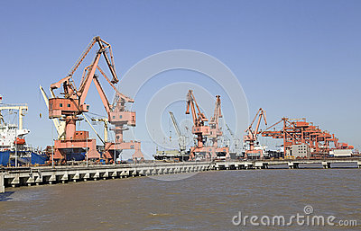 Harbour and cranes