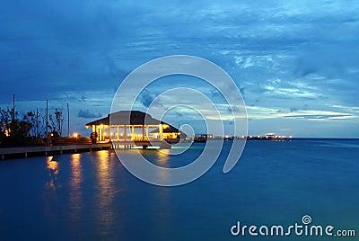 Harbour after dusk