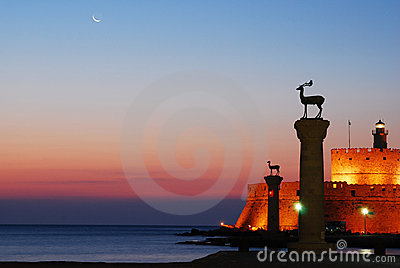 Harbour gates & Lighthouse, Rhodes