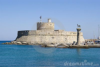 Harbour gates & Lighthouse St. Nicholas, Rhodes