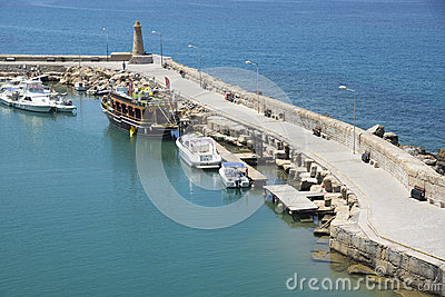The harbour of Kyrenia, Cyprus Editorial Stock Photo