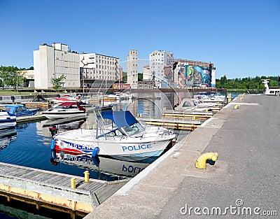 Harbour in Midland,Ontario,Canada Editorial Photo