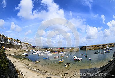 The harbour at Mousehole, Cornwall, England.