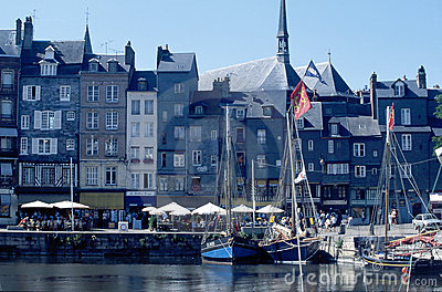 Harbour with old houses