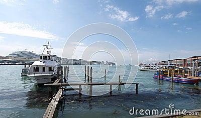 Harbour Tronchetto - Venice Editorial Stock Image