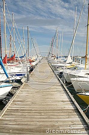 Harbour yacht