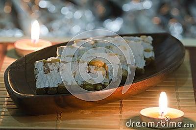 Hard almond turron