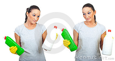 Hard choice of two cleaning products