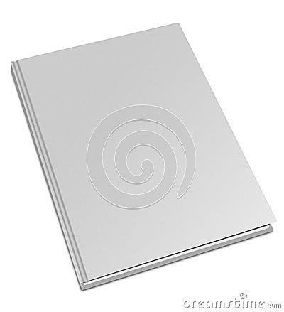 Hard cover white book