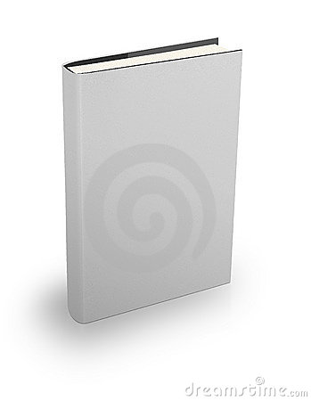 Hard cover white book