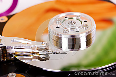 Hard disc closeup