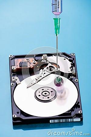 Hard disc repairing