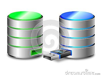 Hard disk backup concept