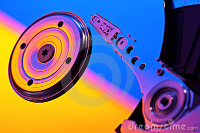 Hard disk inside