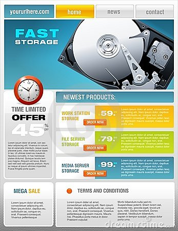Free Hard Disk Promotional Brochure Stock Images - 8938574