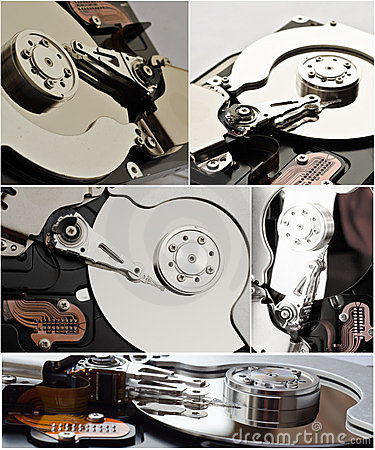 Hard disk storage collage