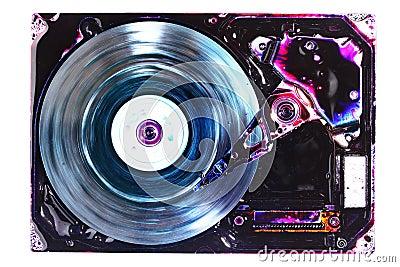 Hard drive abstract
