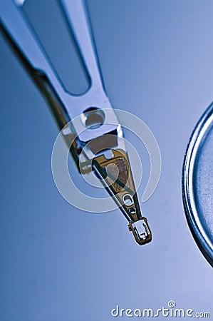 Hard drive close-up