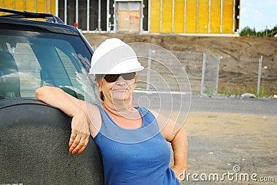 Hard hat female boss