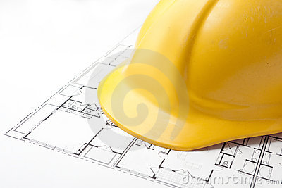 Hard Hat on Floor Plans