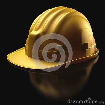 Hard Hat Over Black