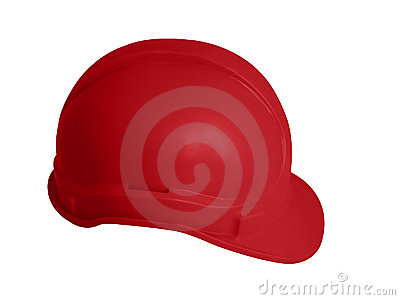 Hard hat in red