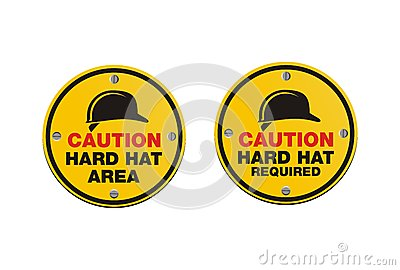 Hard hat signs - round signs