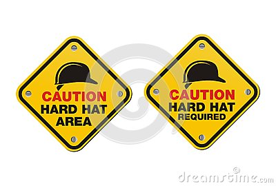 Hard hat signs - square signs
