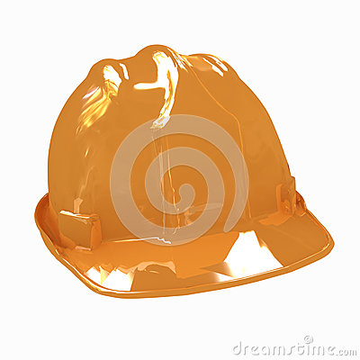 Hard hat  on white background