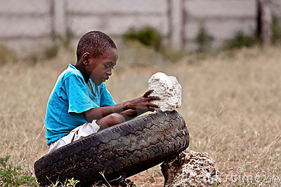 Hard life for a Kenyan child,africa Editorial Image