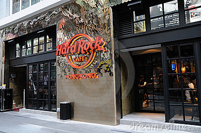 Hard Rock Cafe Editorial Stock Image