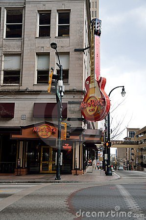 Hard Rock Cafe Atlanta, Georgia Editorial Stock Image