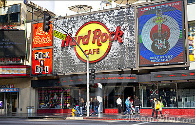 Hard Rock Cafe Hollywood Editorial Image