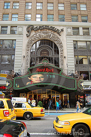 Free Hard Rock Cafe In Times Square, Manhattan, NYC Stock Image - 21560101