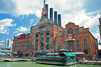 Hard Rock Cafe Power Plant in Baltimore Maryland Editorial Stock Photo