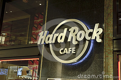 Hard Rock Cafe Sign Editorial Image