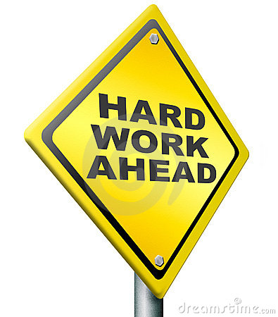 Free Hard Work Ahead Royalty Free Stock Images - 22661729