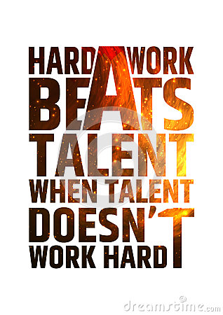 Free Hard Work Beats Talent Motivational Inspiring Royalty Free Stock Photography - 54963577