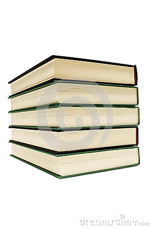 Free Hardcover Books Isolated On White Royalty Free Stock Image - 43488496